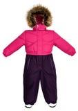 De kinderen snowsuit vallen Stock Foto