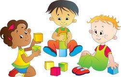 De kinderen spelen Stock Foto's