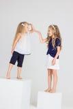 De kinderen spelen en lachen Stock Foto's