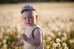 De kinderen van de baby in weide Royalty-vrije Stock Afbeeldingen