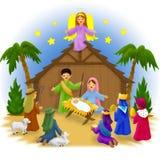 De Kinderen van de geboorte van Christus vector illustratie