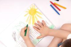 De kinderen van de tekening Stock Afbeeldingen