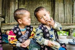 De kinderen van DOI PUI Karen. stock afbeelding