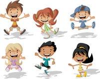 De kinderen van het beeldverhaal royalty-vrije illustratie