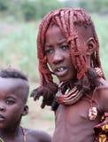 De kinderen van Himba Stock Afbeeldingen