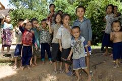 De kinderen van Hmong in Laos Royalty-vrije Stock Foto