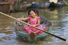 De Kinderen van Kambodja Stock Afbeeldingen