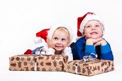 De kinderen van Kerstmis Stock Afbeeldingen