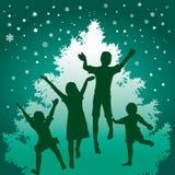 De kinderen van Kerstmis Stock Fotografie