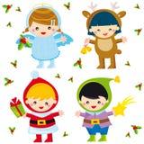 De kinderen van Kerstmis Stock Afbeelding
