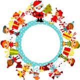 De Kinderen van Kerstmis op de planeet. Stock Foto's