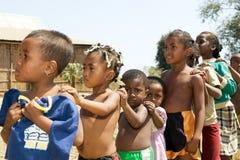 De kinderen van Madagascar Stock Foto's
