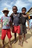 De Kinderen van Madagascar in Morondava, Madagascar Royalty-vrije Stock Afbeeldingen