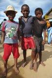 De Kinderen van Madagascar in Morondava, Madagascar Royalty-vrije Stock Foto's