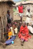 De kinderen van Masai Royalty-vrije Stock Afbeelding