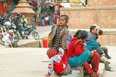 De kinderen van Nepal Stock Fotografie