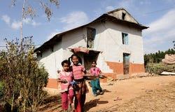 De Kinderen van Nepali Royalty-vrije Stock Foto's
