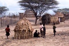 De kinderen van Turkana Stock Foto's