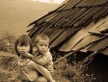De Kinderen van Zao van Sapa, Vietnam Stock Foto's