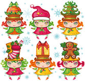 De kindereninzameling van Kerstmis Stock Afbeelding