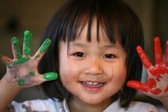 De kinderenuitdrukkingen van de vreugde Stock Afbeelding