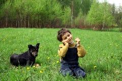 De kinderjaren. Stock Afbeelding