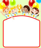 De kinderjaren van de school. Plaats voor uw tekst. Sporten. Royalty-vrije Stock Fotografie