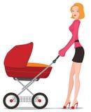 De kinderwagen van de baby Stock Afbeeldingen