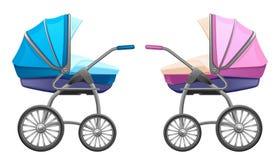 De kinderwagen van de baby vector illustratie