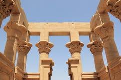 De Kiosk van Trajan van Philae De Philae-Tempel, op Agilkia-Eiland Stock Foto
