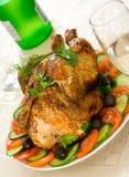 De kip een grill Stock Foto