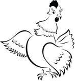 De kip van het beeldverhaal Royalty-vrije Stock Foto