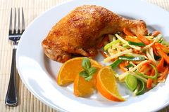 De kip van het braadstuk stock foto