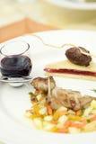 De kip van het braadstuk met groenten Stock Foto's