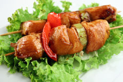 De kip van Yakitori Stock Foto's
