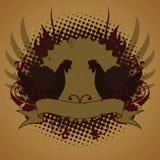 De kippen van de brand, embleem Royalty-vrije Stock Foto's