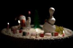 De kippencake van de haancake, kippencake, vogelcake Royalty-vrije Stock Afbeeldingen