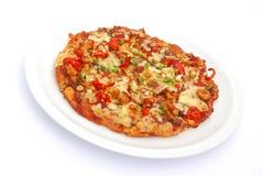 De kippenpizza van Tikka Royalty-vrije Stock Afbeelding