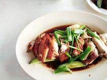 De kippenrijst van Hainanese Straatvoedsel royalty-vrije stock foto