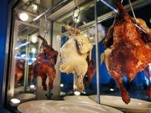 De kippenrijst van Hainanese Straatvoedsel stock afbeeldingen