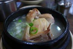 De kippensoep van Korea Royalty-vrije Stock Foto