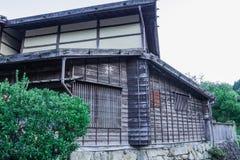 De Kisovallei is de oude stad of Japanse traditionele houten buil Stock Fotografie