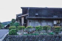 De Kisovallei is de oude stad of Japanse traditionele houten buil Stock Afbeeldingen