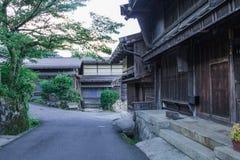 De Kisovallei is de oude stad of Japanse traditionele houten buil Royalty-vrije Stock Afbeeldingen