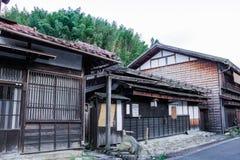 De Kisovallei is de oude stad of Japanse traditionele houten buil Royalty-vrije Stock Foto's