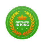 De klant is Koning royalty-vrije illustratie