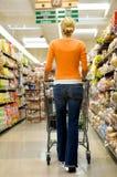 De Klant van de supermarkt Stock Foto's