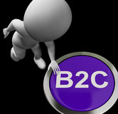De Klanten en de Handel van B2C Button Shows Company royalty-vrije illustratie