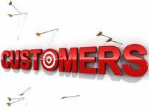 De klanten richten vector illustratie