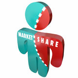 De Klanten van het Bedrijfs marktaandeelpercentage Persoon Stock Afbeeldingen